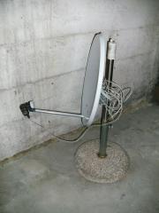 Satellitenanlage samt Receiver