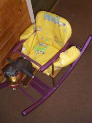 Schaukelpferd Holz für Kleinkinder Farbe