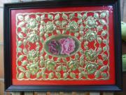 Schmuckblätter vergoldet geprägt Biedermeierzeit