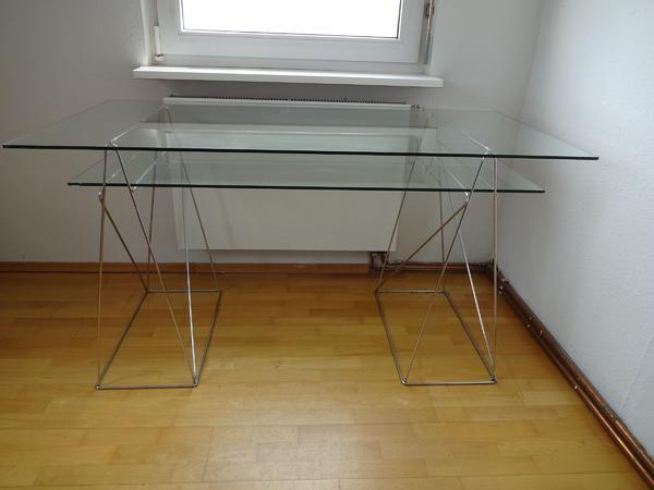 Schreibtisch aus Glas und Chrom in Ludwigsburg - Büromöbel kaufen ...
