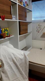 Schreibtisch mit Überbau