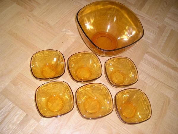 Schüssel - Salat- Dessert - Ockerglas