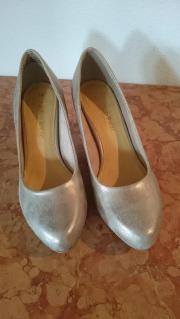 Schuhe Pumps Gr 38 Metallic