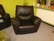 Schwarzer Leder-Relaxsessel
