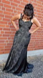 Schwarzes Abendkleid - Ballkleid -