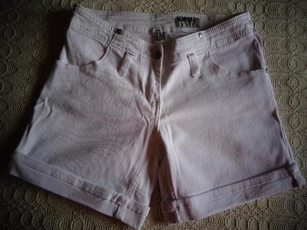 Shorts Jeans-Shorts weiß Gr M