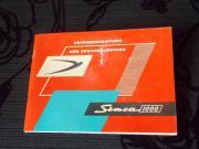 Simca 1000 Original Betriebsanleitung von