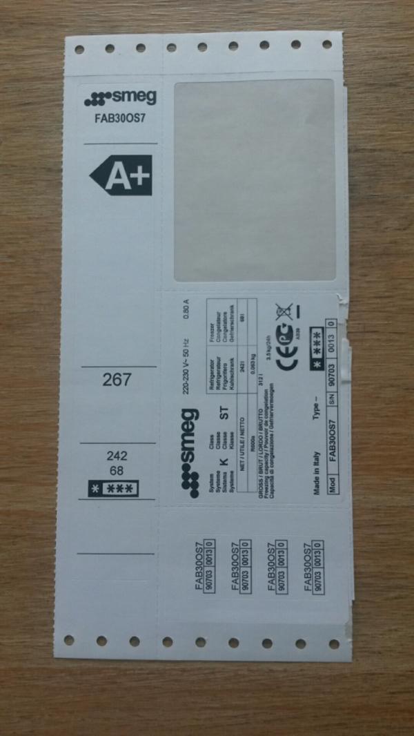 SMEG Kühlschrank A+, wenig gebraucht, für Selbstabholer in Barmstedt ...