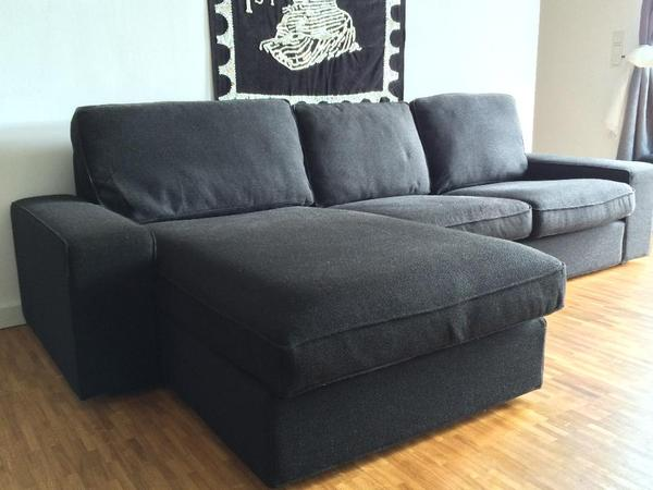 sofa gruppe kivik ikea ten schwarz erst 1 5 jahre alt. Black Bedroom Furniture Sets. Home Design Ideas