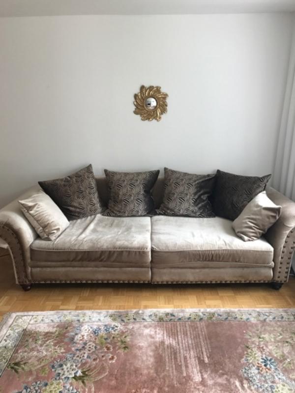sofa, sehr bequem, aus samt in landshut - polster, sessel, couch, Hause deko