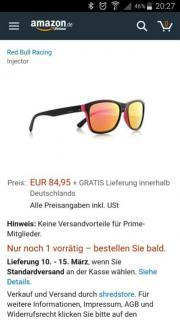 Sonnenbrille, Red Bull