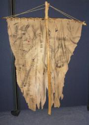 Standarte Fahnenstange Banner Ritter Fasching