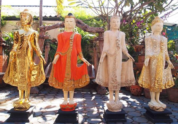 Stehender Buddha Holzbuddha Buddha aus
