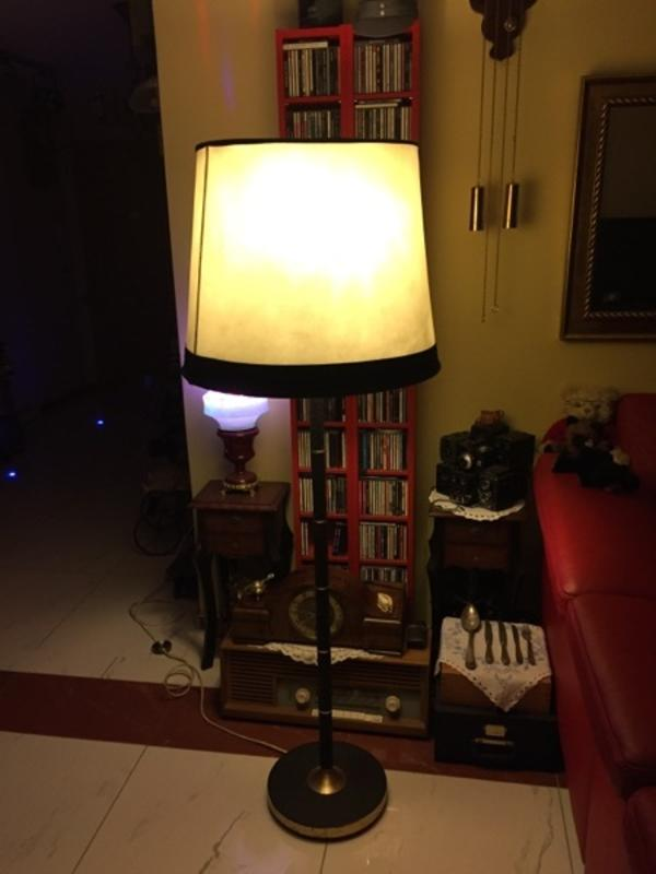 Stehlampe Messing Schwarz aus den