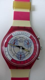 Swatch Chrono NAVY BERRY SCR100