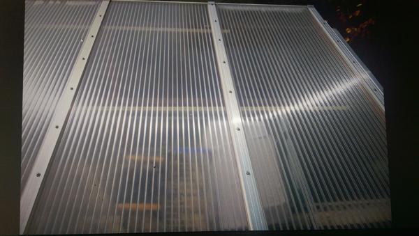 Brandneu Terrassenüberdachung mit Kunststoff - Doppelstegplatten in  XM89