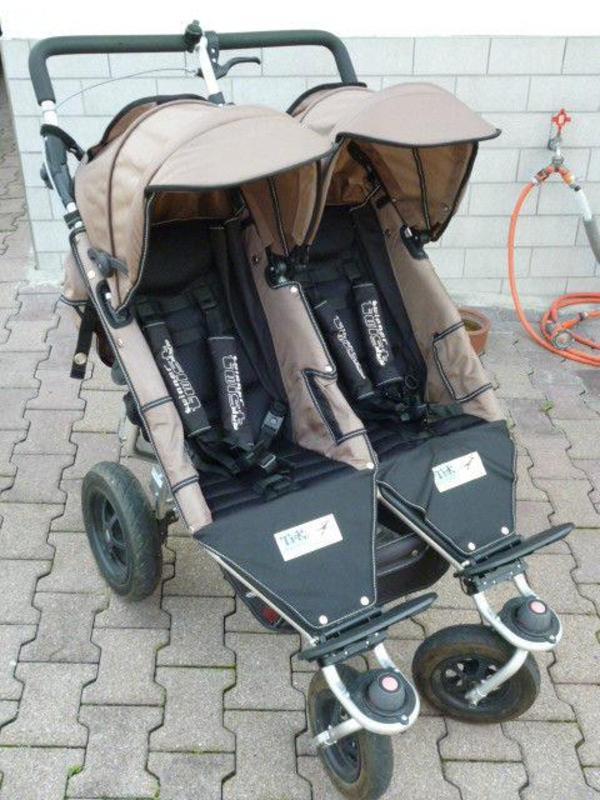 Zwillingskinderwagen tfk  TFK Twinner Twist Duo Farbe: Schlamm (Braun) in Ludwigshafen ...