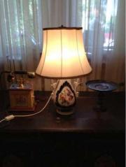Tischlampe alte Vase mit Schirm