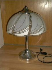 Tischlampe chrom/glas