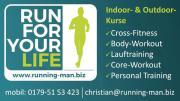 Trainingsraum für Fitnesskurse /