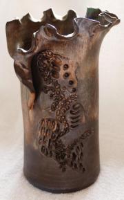 Vase, Keramik - Handarbeit