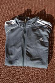 Verkaufe adidas Trainingsjacke grau