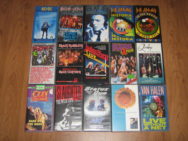 Verschiedene Musik DVDs und Videos