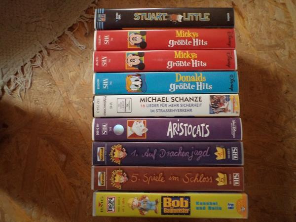 VHS Kassetten diverse Kinderfilme Disney