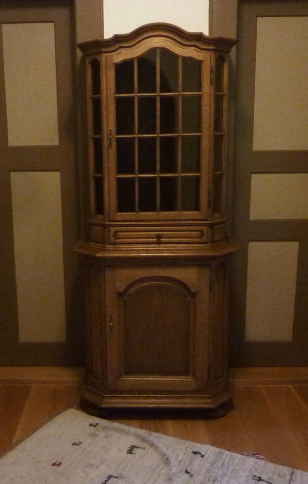 vitrine rustikal gebraucht kaufen nur 3 st bis 60. Black Bedroom Furniture Sets. Home Design Ideas