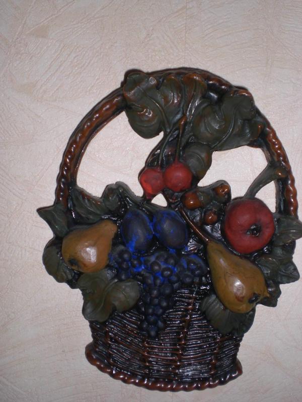 Wachsbild - Obstkorb