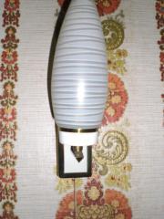 Wandlampe 1-flammig Glasschirm weiß Fassung
