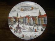 Wandteller München Marienplatz um 1760