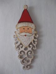 Weihnachtsmannkopf aus Holz