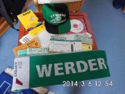 Werder Bremen Schal Mütze Eintrittskarten