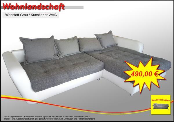 Wohnlandschaft, Big Sofa - Leder Weiß / Webstoff in Holzminden ...