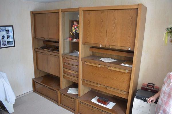 wohnzimmerschrank dunkel gebraucht kaufen nur 2 st bis 70 g nstiger. Black Bedroom Furniture Sets. Home Design Ideas